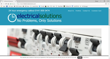 News - New website launch 1st Electrical Solutions Ltd