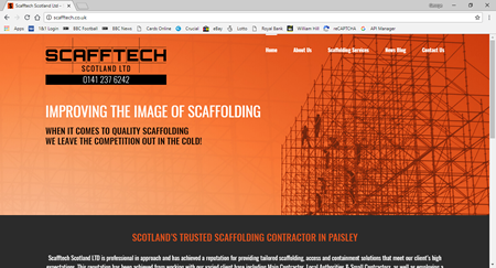 News - New website launch Scafftech Scotland Ltd
